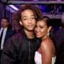 Jaden Smith and Jada Pinkett-Smith in Black and White