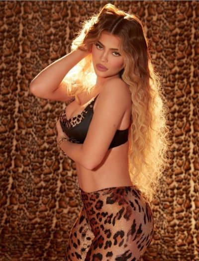 Kylie Jenner Rocks Leopard