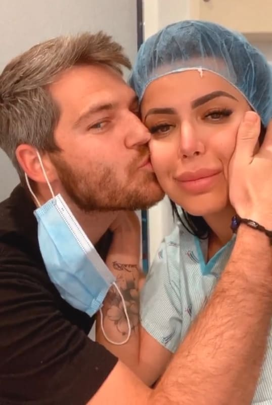 Eric nichols kisses larissa lima before treatment