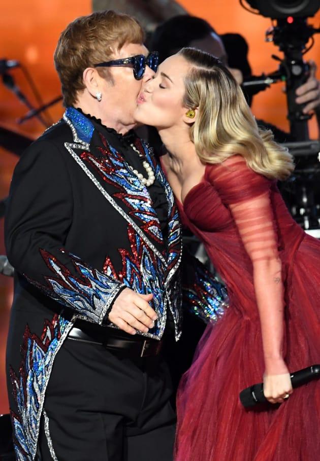 Miley Cyrus and Elton