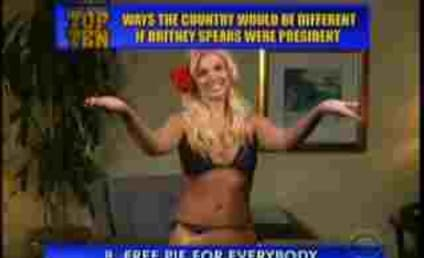 Britney Spears Delivers Top 10 List on Letterman