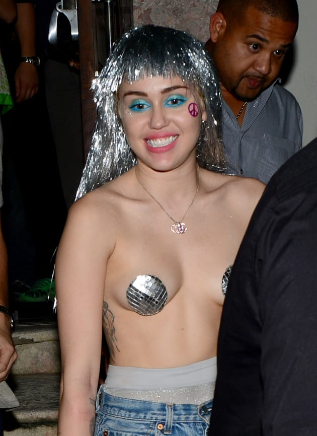 from Philip miley cyrus nipple naked