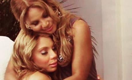 Tamar and Toni Braxton embrace