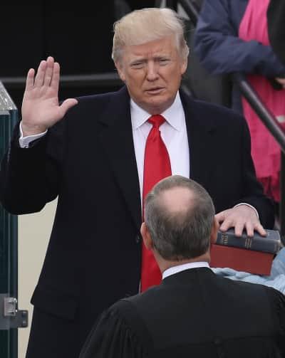 Donald Trump Takes the Oath