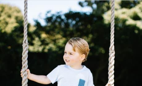 Prince George On Swing