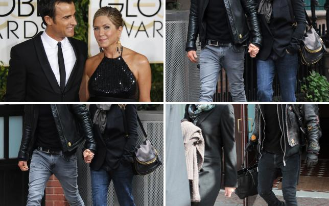Jennifer aniston and justin theroux at the golden globes