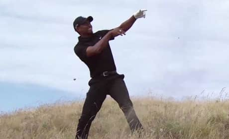 Tiger Woods Takes Horrible Golf Shot