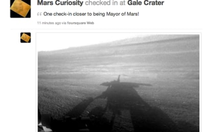 Mars Curiosity Checks in on Foursquare