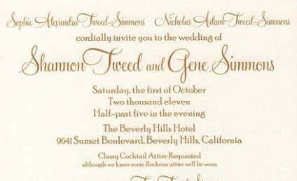 Gene Simmons and Shannon Tweed Wedding Invitation: Released, Hilarious!