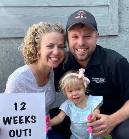 John David and Abbie: 12 Weeks!