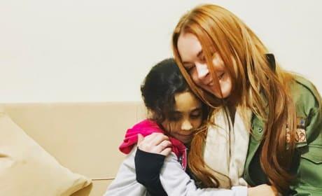 Lindsay Lohan and Bana Alabed