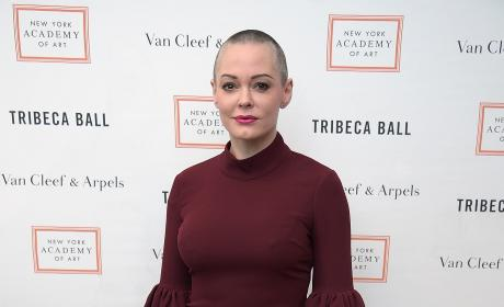 Rose McGowan in Red