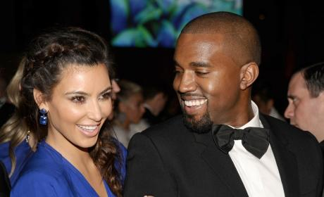 Kim Kardashian and Kanye West Image