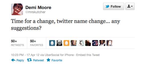 Demi Moore Tweet
