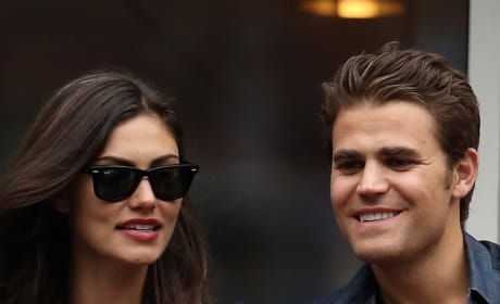 Paul Wesley and Phoebe Tonkin in 2015