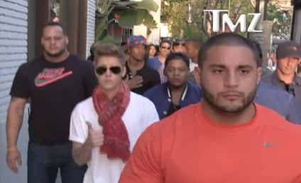 Justin Bieber to Camerman: Don't Talk!
