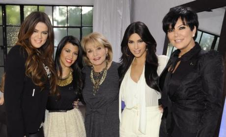 Barbara Walters and the Kardashians