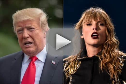 Donald trump on taylor swift shes a moron and i now hate her mus