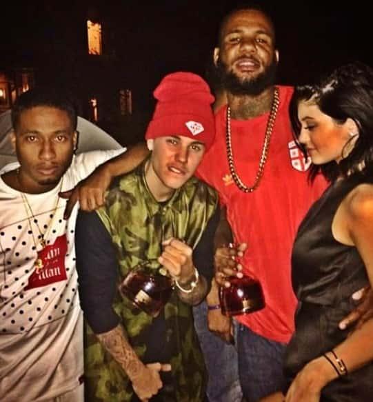 Justin Bieber with Liquor