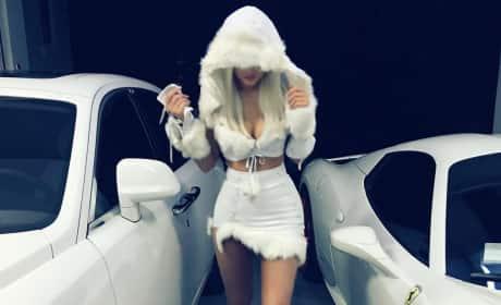 Kylie Jenner Is a Snow Princess