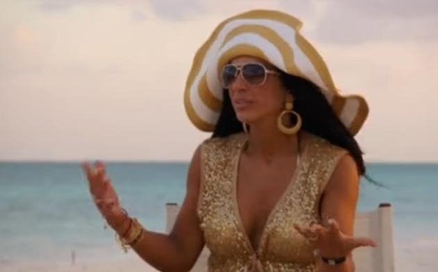 Teresa Giudice: Arguing on the Beach