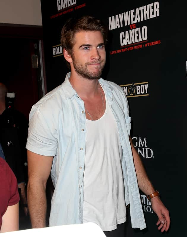 Liam Hemsworth in Las Vegas