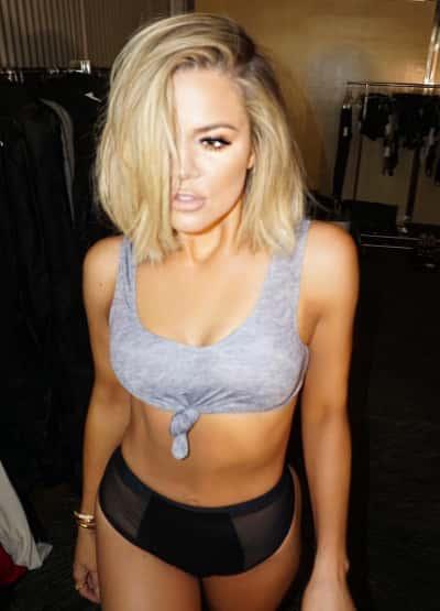 Khloe Kardashian In her Underwear