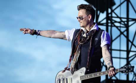 Johnny Depp Performs Germany