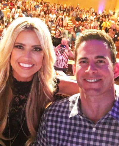 Christina and Tarek El Moussa Smiling