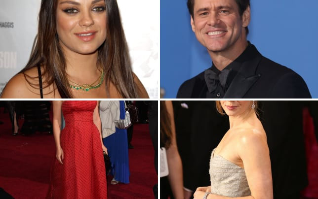 Mila kunis pregnant on the red carpet