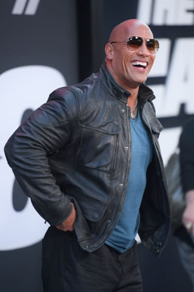 Dwayne Johnson Laughs