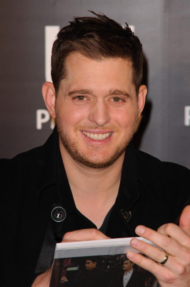 Michael Buble at a Book Signing