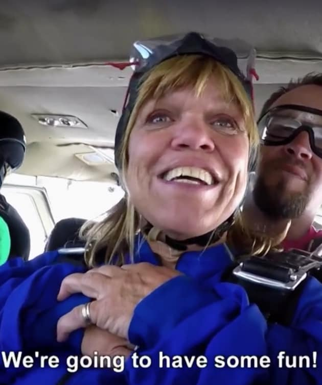 amy roloff sky dives the hollywood gossip