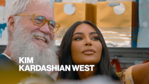 David Letterman and Kim Kardashian promo image for Netflix