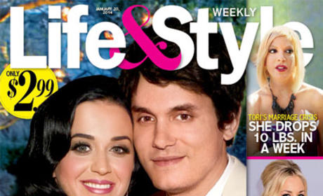 John Mayer and Katy Perry Tabloid Cover