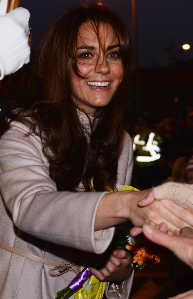 Kate Middleton Shakes Hands