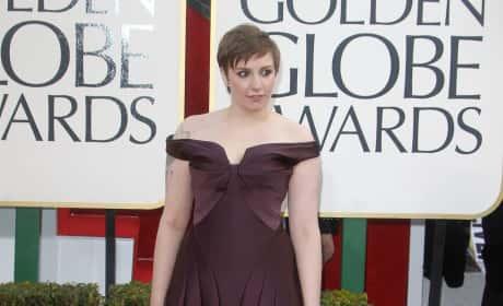 Lena Dunham at the Golden Globes