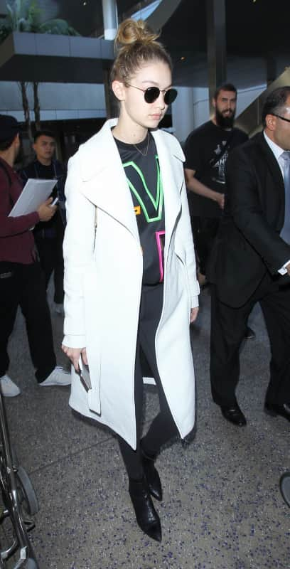Gigi Hadid Flies Back From Paris Haute Couture Fashion Week