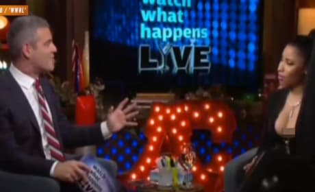 Nicki Minaj Nip Slip on Watch What Happens Live