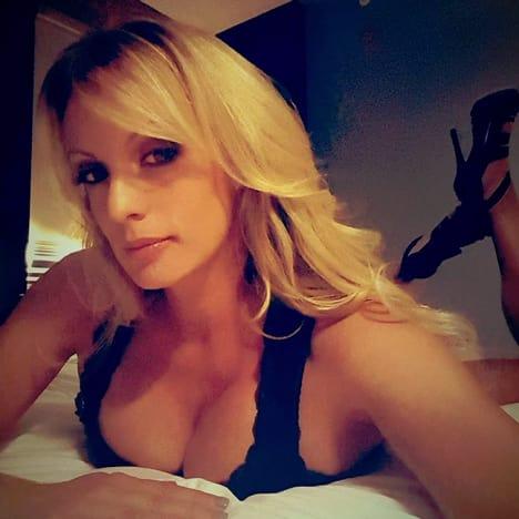 Stormy Daniels Bed Selfie