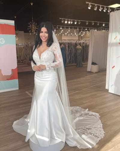 Larissa Lima Models a Wedding Dress