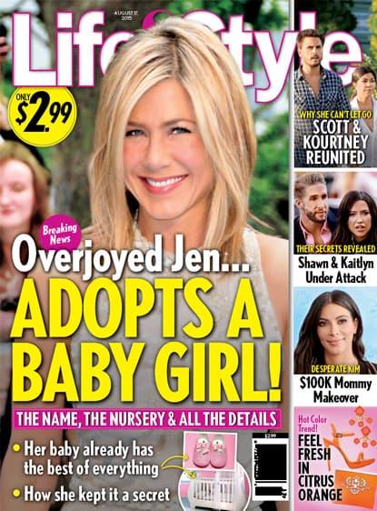 Jennifer Aniston Adopts?!?
