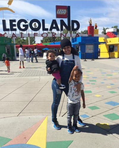 Blac Chyna with Dream and King at Legoland