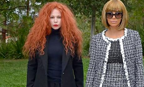 Kim Kardashian Dressed Up as Anna Wintour for Halloween