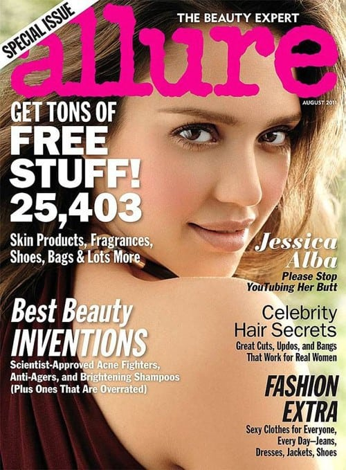 Jessica Alba Allure Cover