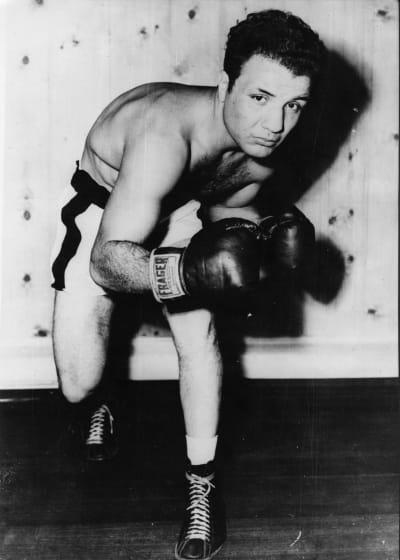 Jake LaMotta Boxing Photo
