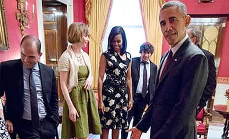 Girls Throws Tantrum in Front of Obama