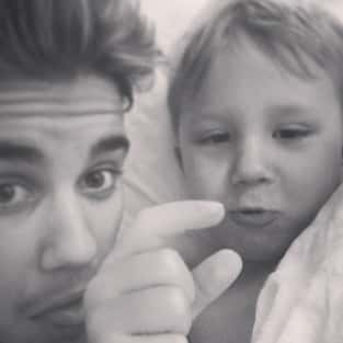 Justin Bieber with Brother