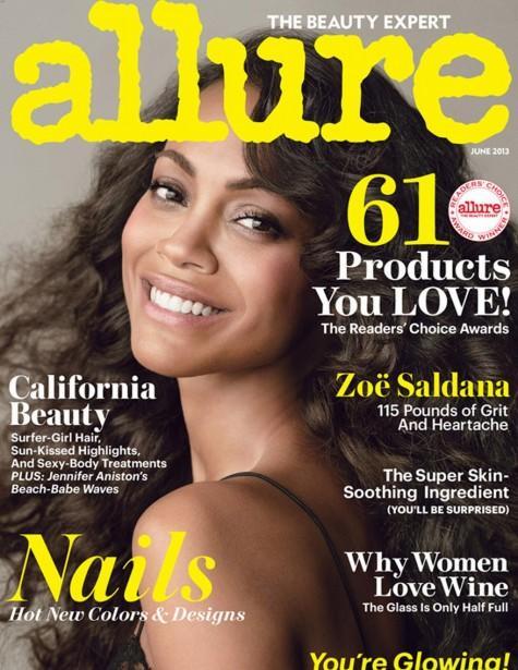 Zoe Saldana Allure Cover