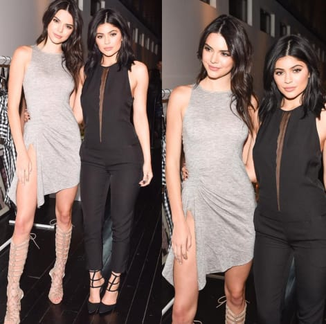 7858d1f59cfab Kendall Jenner and Kylie Jenner Launch Spring Clothing Line in NYC ...